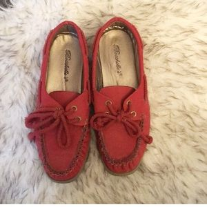 Red cute loafers